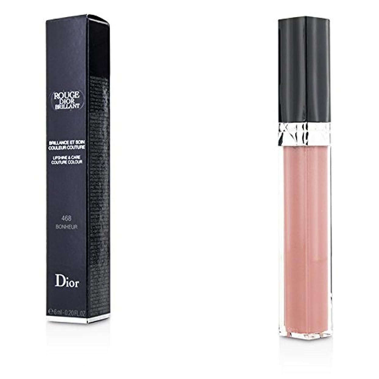 モトリーメロディー商業のクリスチャンディオール Rouge Dior Brillant Lipgloss - # 468 Bonheur 6ml/0.2oz並行輸入品
