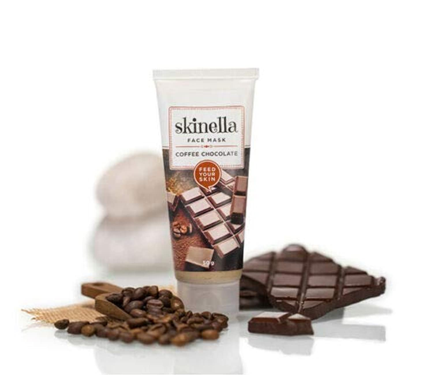 恋人居間主人Skinella Coffee Chocolate Face Mask 50g for a hydrated and rejuvenated look Skinellaコーヒーチョコレートフェイスマスク50g