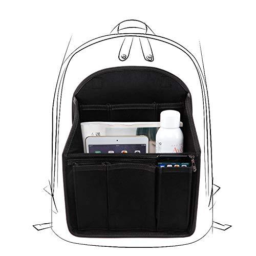 バッグインバッグ LIVEBOX インナーバッグ フェルト Bag in Bag リュックにピッタリ 収納バッグ 防水 収納力抜群 インナーポケット 軽量 レディース メンズ 自立 大容量 持ち手付き 2サイズ 2色を選べる(M、ブラック)