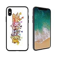 「iPhoneX 携帯ケース」ソフトシリコンシェル+強化ガラス背面 スマホ ケース/カバー、 鏡面 光沢 超薄型 携帯ケース、Q、CUTE、可愛い もの デザイン333