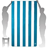 Wise Owl Microfiber Beach Towel - Extra Large Quick Dry Beach Towel Oversized, Super Absorbant Beach & Swim Towels - 7ft x 4ft (Blue)