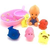 お風呂用おもちゃ お人形遊び おせわパーツ 水遊び バスタブ プール 玩具 お風呂セット 幼児 9点セット 収納袋 お風呂ハンモク 2つの吸盤付き