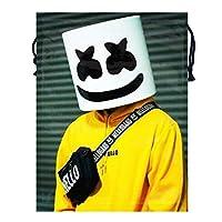 Ainiruhe マシュメロ Marshmello ナップサック ジムサック スポーツジム パック バッグ シューズ ケース 巾着袋 折り畳み 収納 超軽 防撥水加工 超軽 運動 旅行 アウトドア