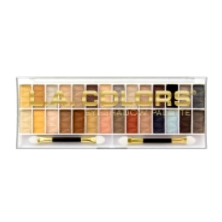 率直なところでビデオL.A. COLORS 28 Color Eyeshadow Palette - Hollywood (並行輸入品)