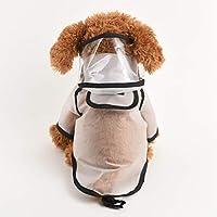 [実りの秋]レインコート 犬 ポンチョ 小型犬/中型犬 帽子付き フルカバー 軽量 雨の日 お散歩 お出かけ 梅雨対策 防水 通気性 着脱簡単 雨具 雨合羽 かわいい オシャレ ペット用品 ホワイト XL