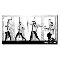 メタルサイン 「エルビスプレスリー King Montage」 #1187 /ブリキ看板/Elvis/ロック・ミュージック/