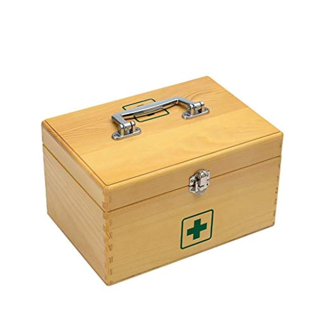 望みセールスマンアルコーブ木製家庭用薬箱救急箱医療箱薬収納家庭用子供小さな薬箱外来ポータブル LIUXIN (Size : 28×20×13cm)