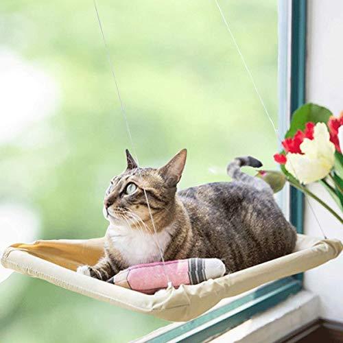 PELAU 猫 ハンモック 窓 ベッド 窓用 日向ぼっこ 洗濯できる 取り付け簡単 日本語説明書付き 吸盤改良版