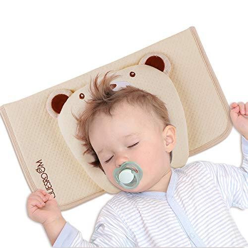 赤ちゃん まくら ベビー枕 向き癖防止枕 絶壁や斜頭を防ぐ 寝返り防止 高さ調節可能 100%綿カバー 出産準備 男女兼用 手軽に洗える(新生児〜12ヶ月向け) 【1年保証付】