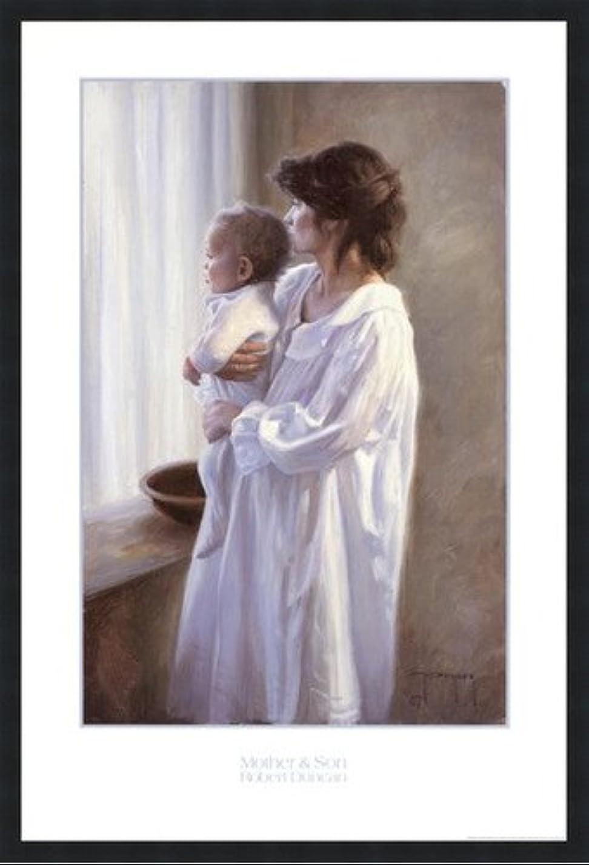 目立つ動機警告母と息子by Robert Duncan – 24.5 X 36インチ – アートプリントポスター LE_399103-F101-24.5x36
