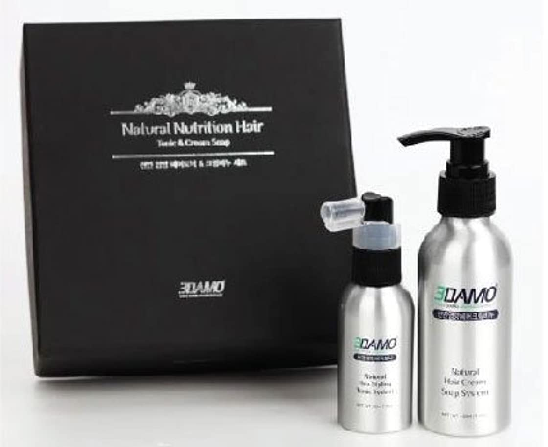 治世受け入れる備品3DAMO ナチュラルクリームソープ&ヘアトニック(男女兼用)セット