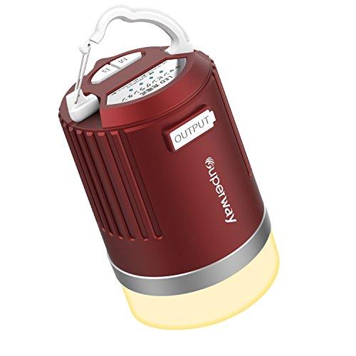 Superway LEDランタン3色切替 電球色 自然白 昼白色 無段階調光 充電式11200mAhモバイルバッテリー IP65バーベキュー アウトドア携帯キャンプ用品/応急停電用 連続点灯510時間