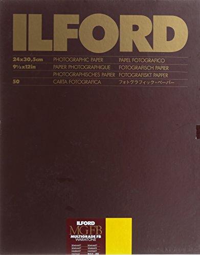 Ilford Multigrade FB Warmtoneセミマット9.5センチメートルx 12インチ(24?x 30.5?50シート