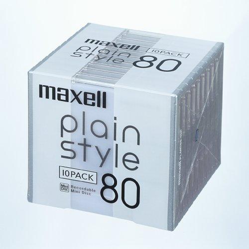 maxell 音楽用 MD 80分 「plain style」シリーズ ミルキーホワイト 10枚 PLMD80.10P