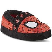 Marvel Avengers Spider-Man Kids A-Line Slippers (11-12 M US Little Kid, Red/Black Web)