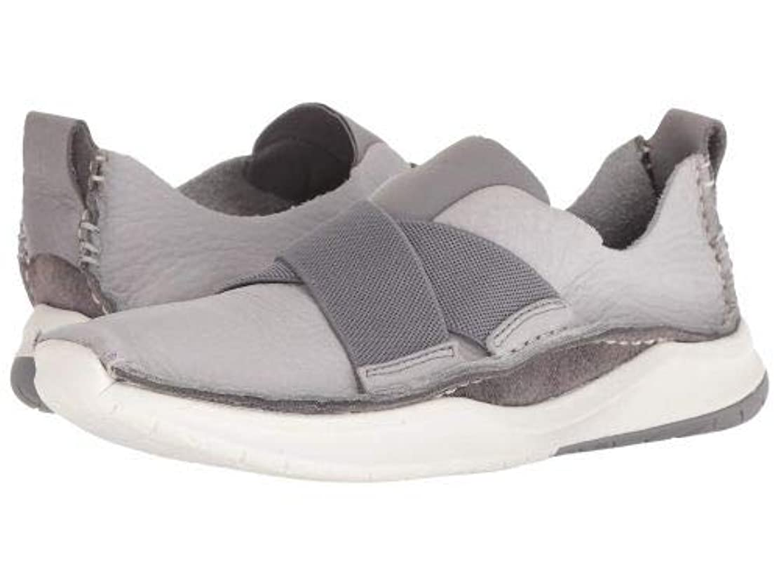 サラダ座標想像力豊かなClarks(クラークス) レディース 女性用 シューズ 靴 スニーカー 運動靴 PrivolutionEx - Light Grey Leather [並行輸入品]