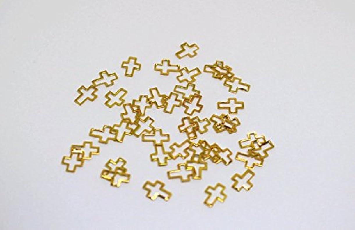 枯渇する香水不格好ノーブランド品 D10 クロス M ゴールド 6mm*8mm プレートフレーム メタルパーツ25個入り カーブあり ゴールド シルバー ネイルパーツ ブローチフレーム ネイル用品 GOLD フレーム デコ素材