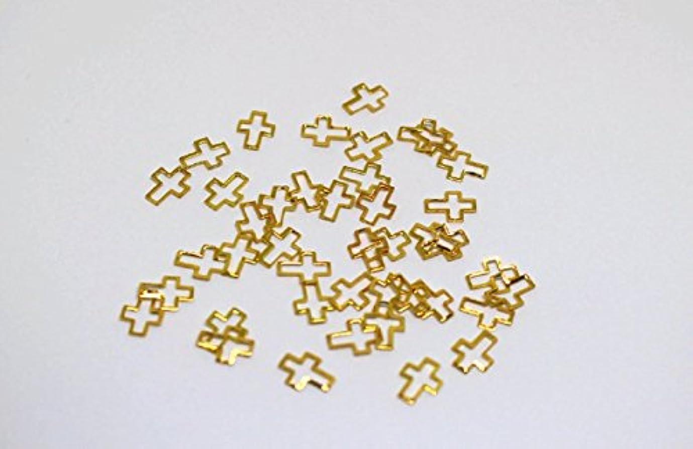 レンダリング放出稼ぐノーブランド品 D10 クロス M ゴールド 6mm*8mm プレートフレーム メタルパーツ25個入り カーブあり ゴールド シルバー ネイルパーツ ブローチフレーム ネイル用品 GOLD フレーム デコ素材