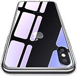 CASEKOO iPhone XS/X ケース 強化ガラスケース クリア 硬度9H 全面保護カバー アイフォン XS/X ケース 透明 ハードケース qi対応 ストラップホール付き [Ice Series]