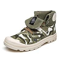 [DOUERY LTD] マーティンブーツ ワークブーツ メンズ 大きい メンズブーツ サイズ レースアップ 作業靴 マーティンブーツ おしゃれ ハイカット デザートブーツ マーチンブーツ 防滑 ライトグリーン 25.5cm 防水 歩くやすい