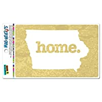 アイオワ州アイオワ州ホーム州 MAG-NEATO'S(TM) ビニールマグネット - テクスチャ黄