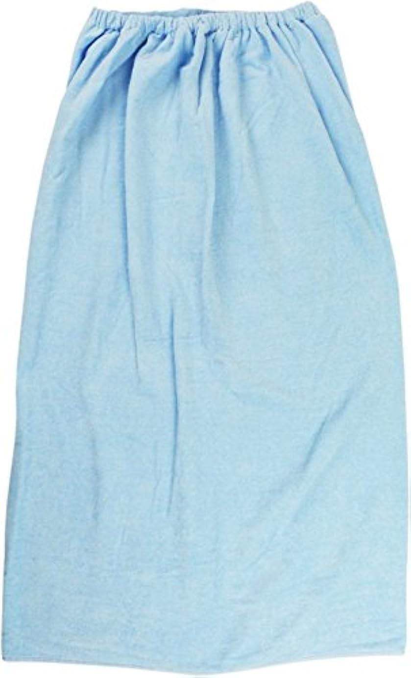 スリム分子に慣れ林(Hayashi) ラップタオル ブルー 約100×120cm シャーリングカラー 無地 MD454821