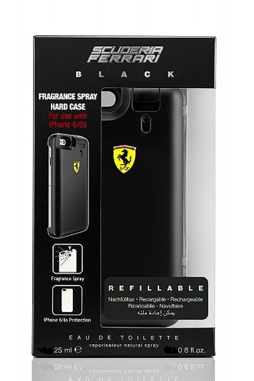 木材厳気候の山◆【Ferrari】メンズ香水&iPhone6ケース◆フェラーリ ブラック オードトワレ EDT 25mlX2◆