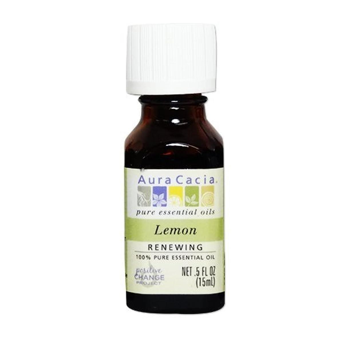 無効モック前投薬[海外直送品] オーラカシア(Aura Cacia) レモン 15ml