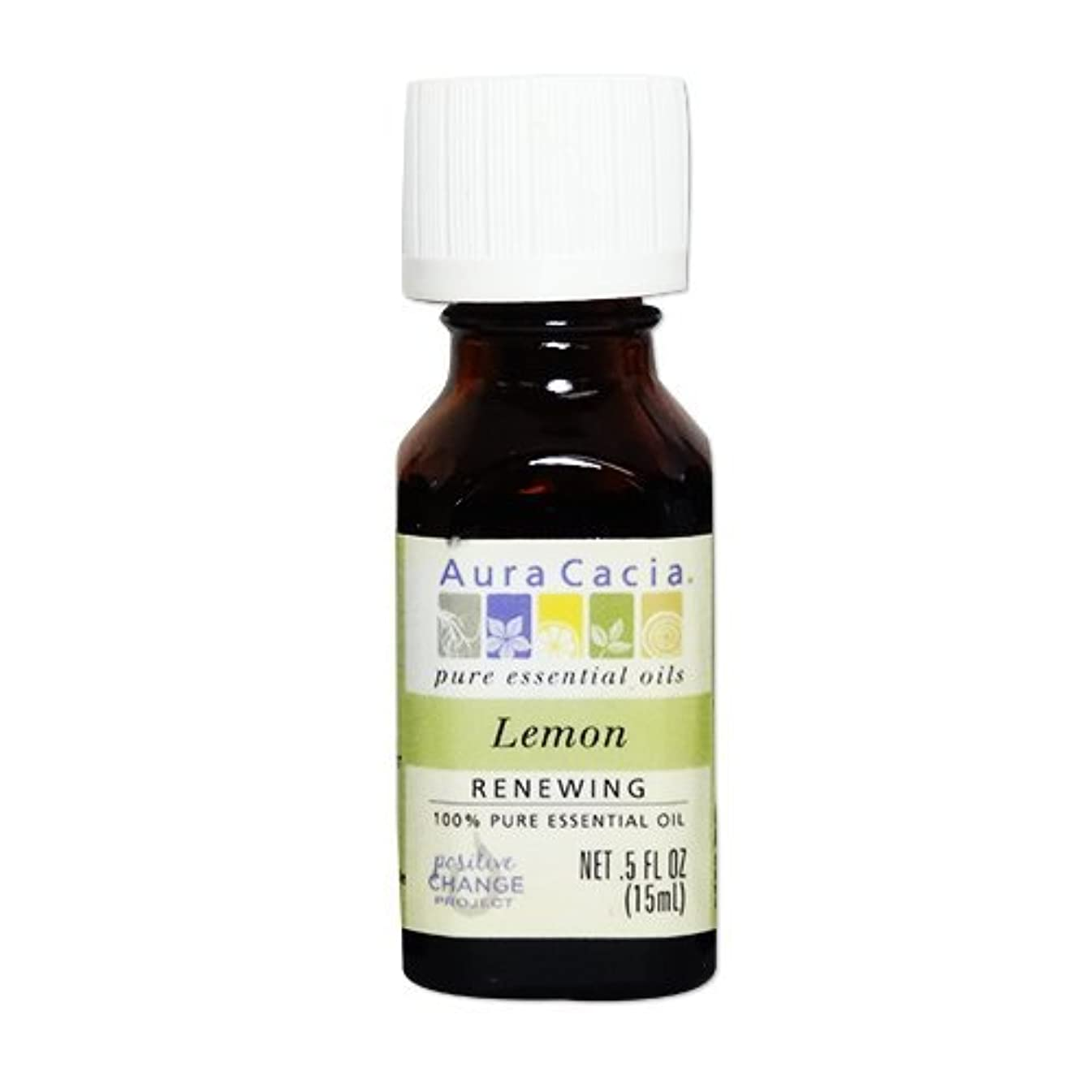 ギネス指標葉っぱ[海外直送品] オーラカシア(Aura Cacia) レモン 15ml