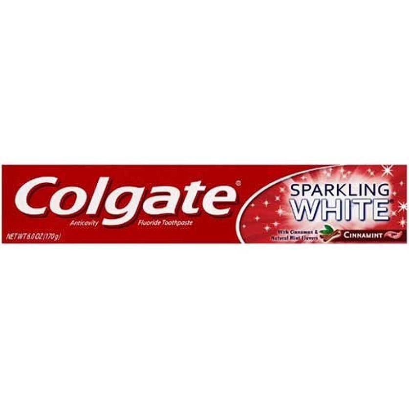 浅いサルベージ発言するColgate ホワイトニングスパークリングホワイトの歯磨き粉、6オンス - 24あたりのケース。