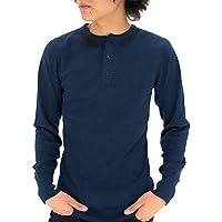 [アヴィレックス] Tシャツ メンズ 長袖 ヘンリーネック 無地 サーマル ワッフル