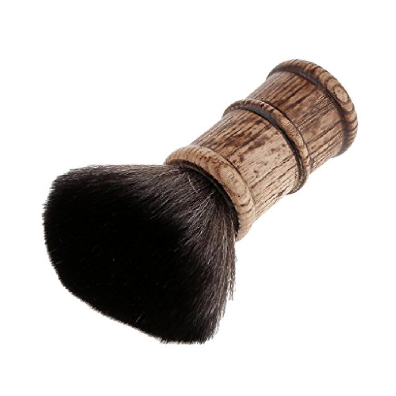 提供する強度尾ヘアカット ネックダスターブラシ メイクアップブラシ フェイスブラシ クリーニングブラシ2色選べる - ブラック