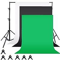 SONONIA  セット 3色 モスリンの背景 写真 スタジオ 背景スタンド 調節可能