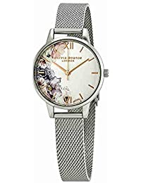 Olivia Burton 腕時計 水彩 花柄 ホワイトダイヤル レディース OB16PP37