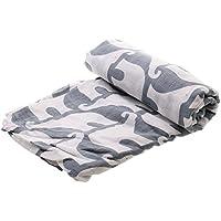 【ノーブランド品】赤ちゃん 新生児 モスリン コットン 二層 ブランケット ラップ 毛布 バスタオル おくるみ 可愛い 全7パタン - エレファント
