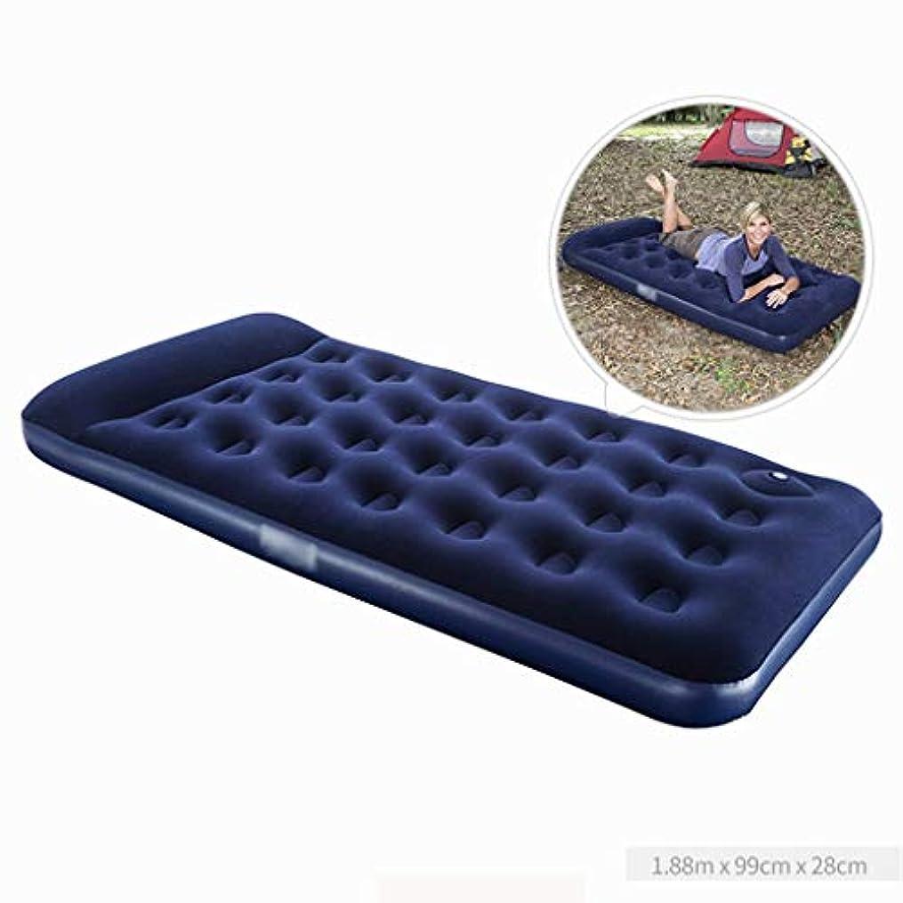 爬虫類注目すべきバラ色ベッド、膨脹可能なマットレスはエアベッドの屋外のポータブルを高めます(サイズ:188 * 99 * 28cm)