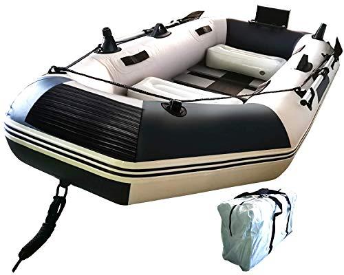 ゴムボート エアボート フィッシングボート インフレータブルカヤック PVC製 オール付き アンカー モーターマウント リペアキット付き 収納袋付き 耐荷重300kg 重量16.6kg SY-PT-01