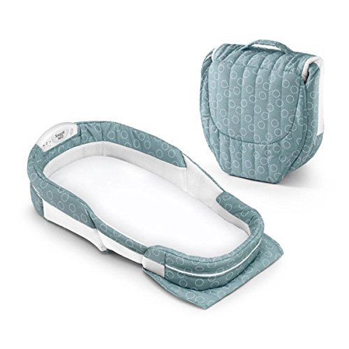 Snuggle Nest Surround XL - Sea-Green Rings by Baby Delight [並行輸入品]