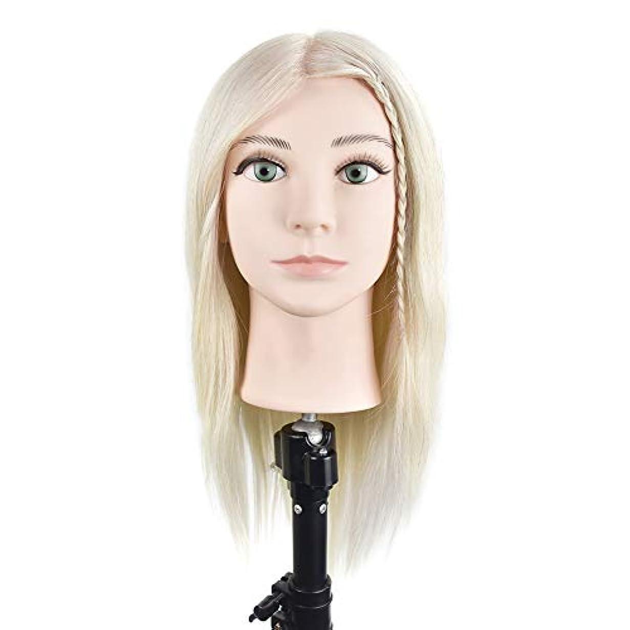 悪質な白鳥グラス専門の練習ホット染色漂白はさみモデリングマネキン髪編組髪かつら女性モデルティーチングヘッド