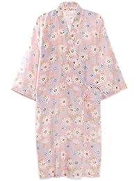 レディース 浴衣 寝巻き 桜の花柄 可愛い浴衣 お寝巻 ねまき パジャマ 旅館 和ざらし ガーゼ 寝巻き 婦人用 女性 二重袷和 綿100%