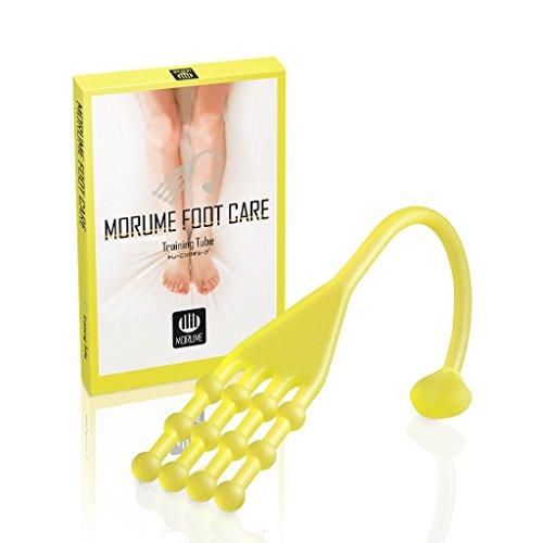 MORUME 最新版 Foot care トレーニング チューブ ストレッチ エクササイズ 足指 足裏 (デイトナイエロー)