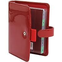 Filofax Pocket Patent Red Organiser