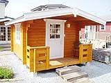 コスカA(ログ厚50mm)大きな屋根とベランダ付の3坪タイプのログハウス