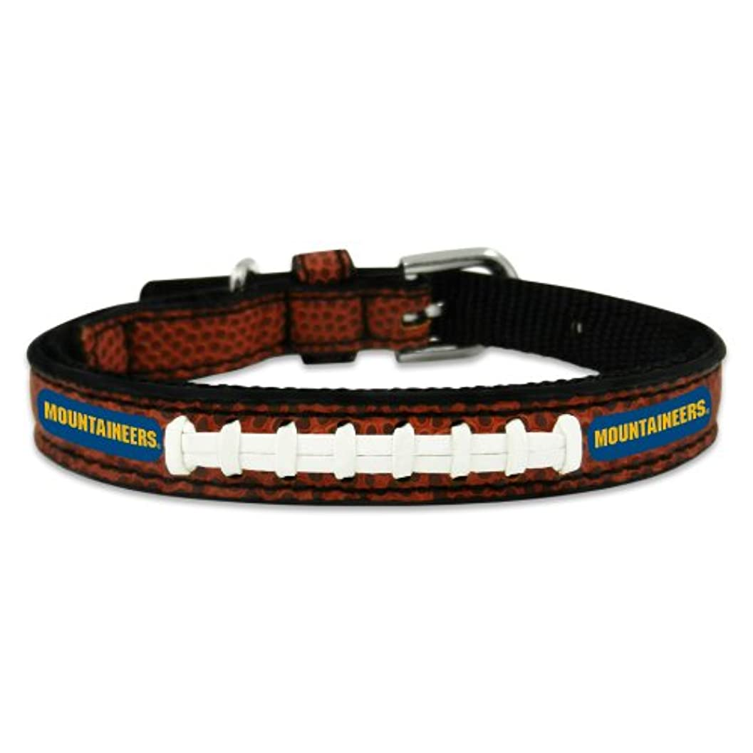 価値のない博物館驚くばかりWest Virginia Mountaineers Classic Leather Toy Football Collar