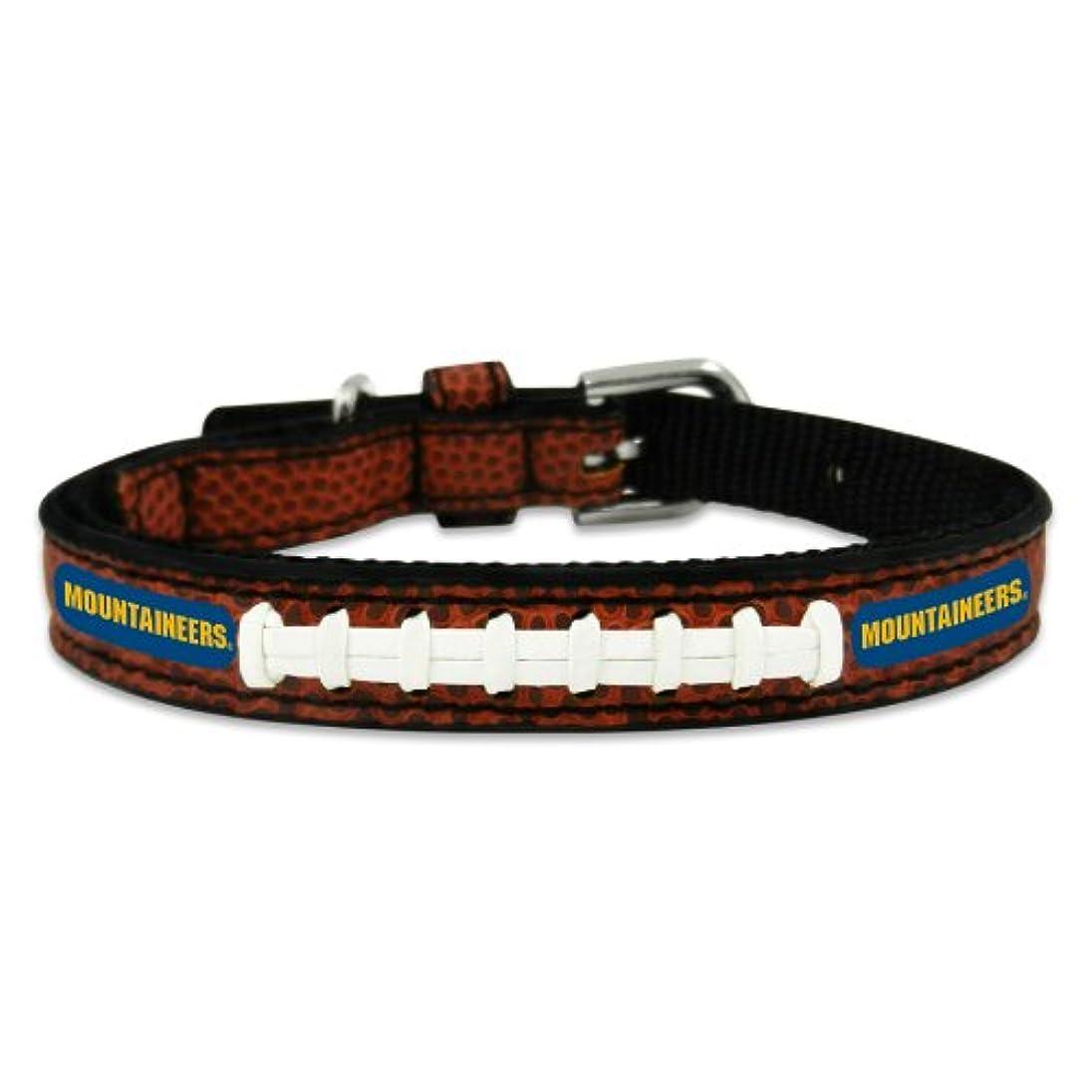 スリム習字住居West Virginia Mountaineers Classic Leather Toy Football Collar
