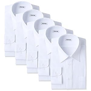 (アトリエサンロクゴ) atelier365 ワイシャツ 形態安定 長袖白Yシャツ全20サイズ 5枚セット/ 6041-set-zaiko-4L-47-88