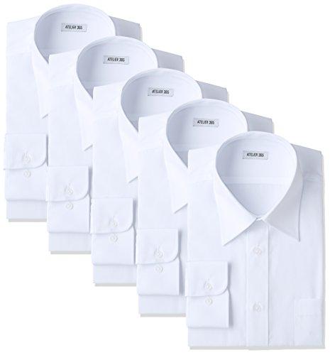 (アトリエサンロクゴ) atelier365 ワイシャツ 形態安定 長袖白Yシャツ全20サイズ 5枚セット/ 6041-set-zaiko-L-41-84