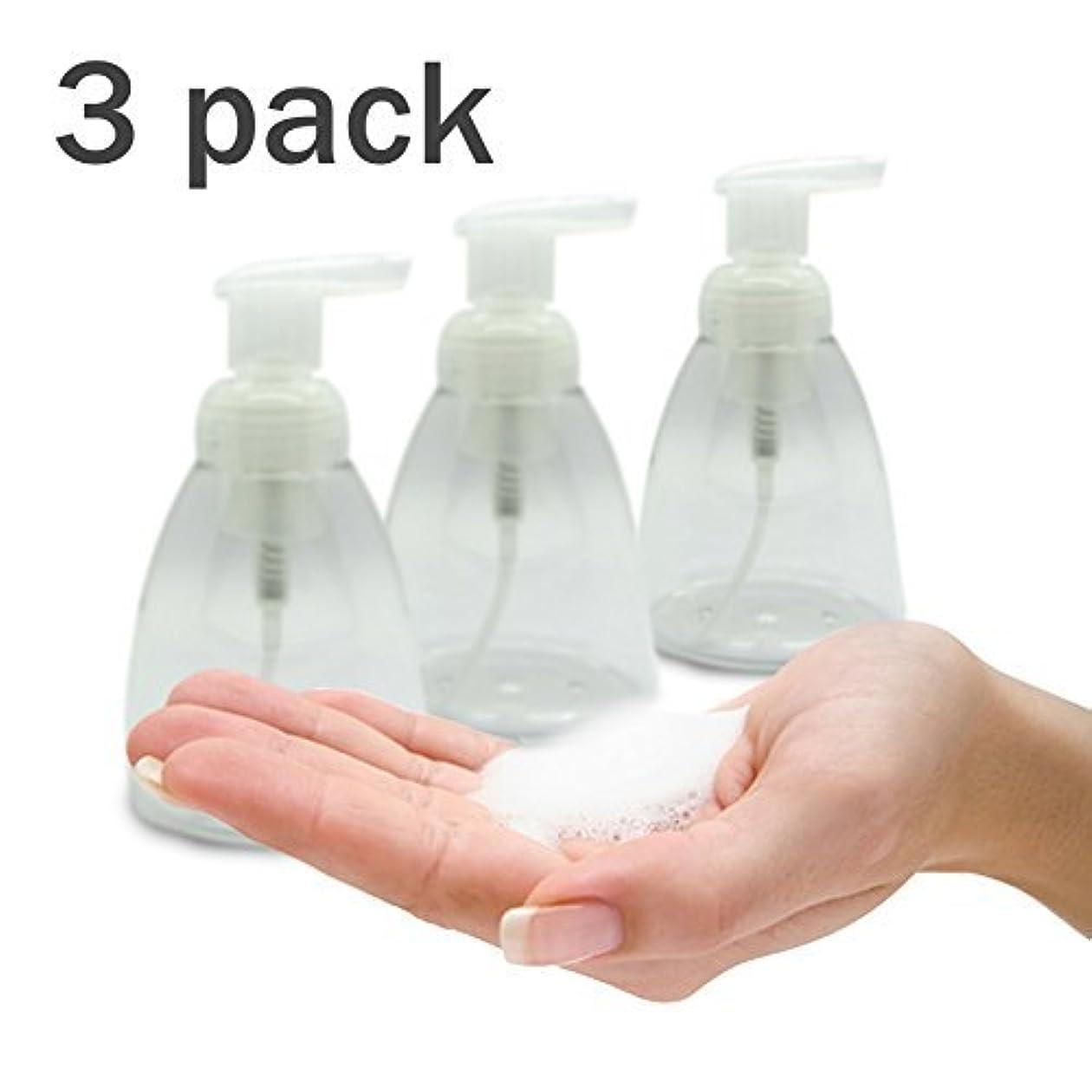 海外家禽内陸Foaming Soap Dispenser Set of 3 pack 300ml (10 oz) Empty Bottles Hand Soap Liquid Containers. Save Money! Less...