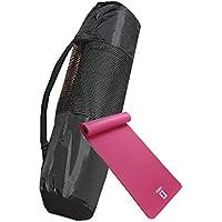 LICLI ヨガマットバッグ おりたたみ トレーニングマット エクササイズマット ヨガ ピラティス マット 厚さ 10mm 「 収納 ケース ストラップ 付 」「 ニトリルゴム 滑り止め 軽量 幅広 防音 防水 」 5カラー