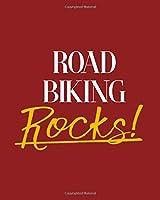 "Road Biking Rocks!: 2018 - 2019 8""x10"" 18 Months Premium ""On-the-Go"" Diary Journal Landscape Notebook Calendar Planner"